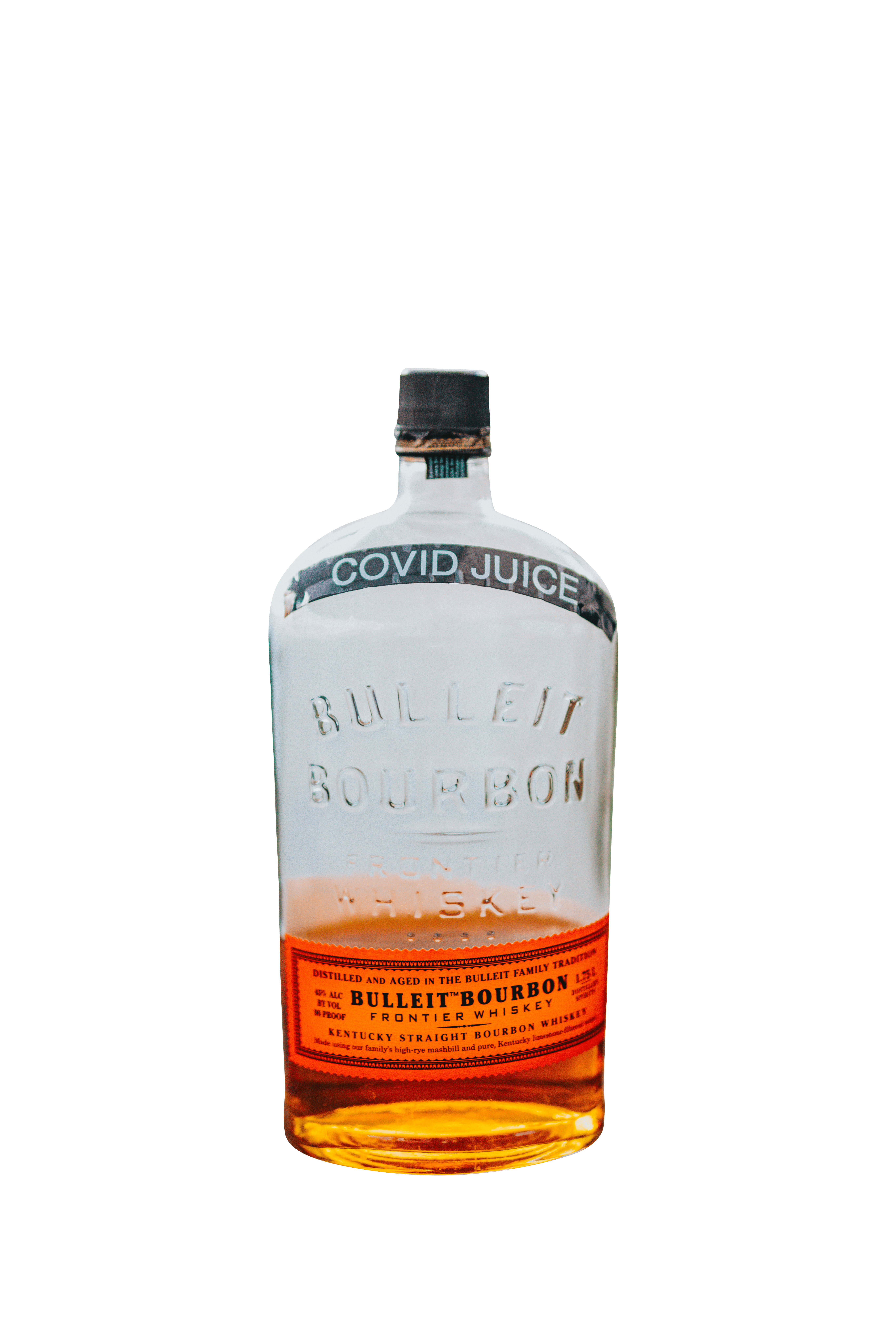 Bulleit bourbon 10 years old whiskey transparent background.png