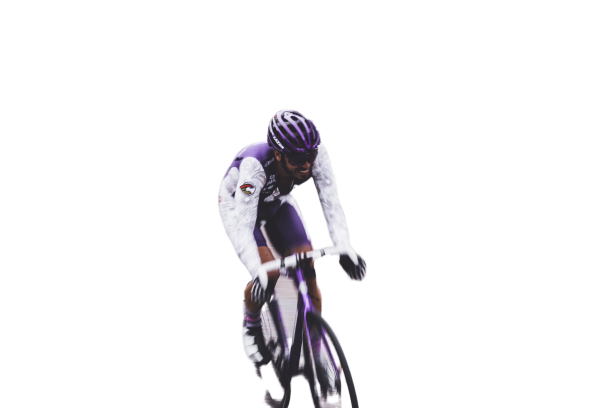 Sportsman doing cycling on track Transparent Background PNG