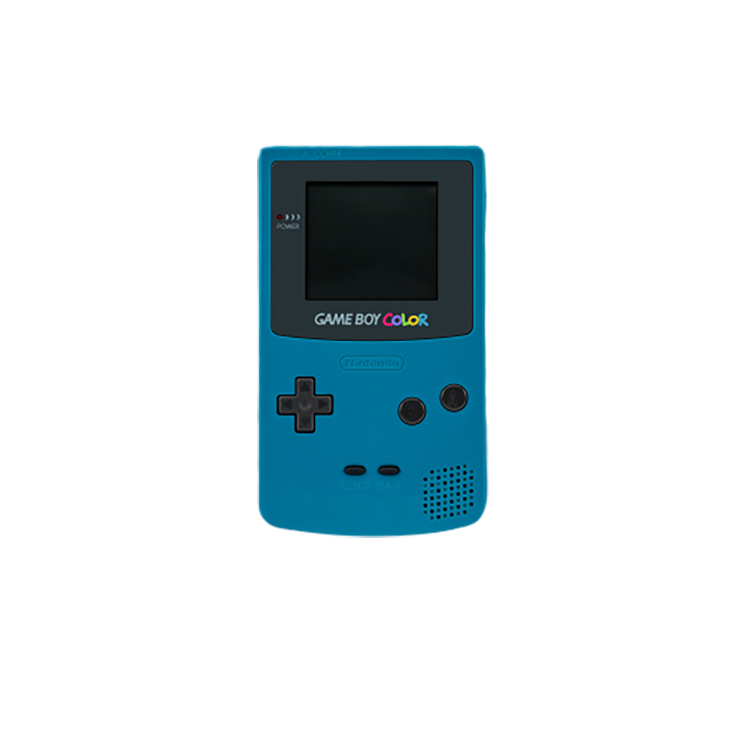 Game Boy Color with transparent background PNG