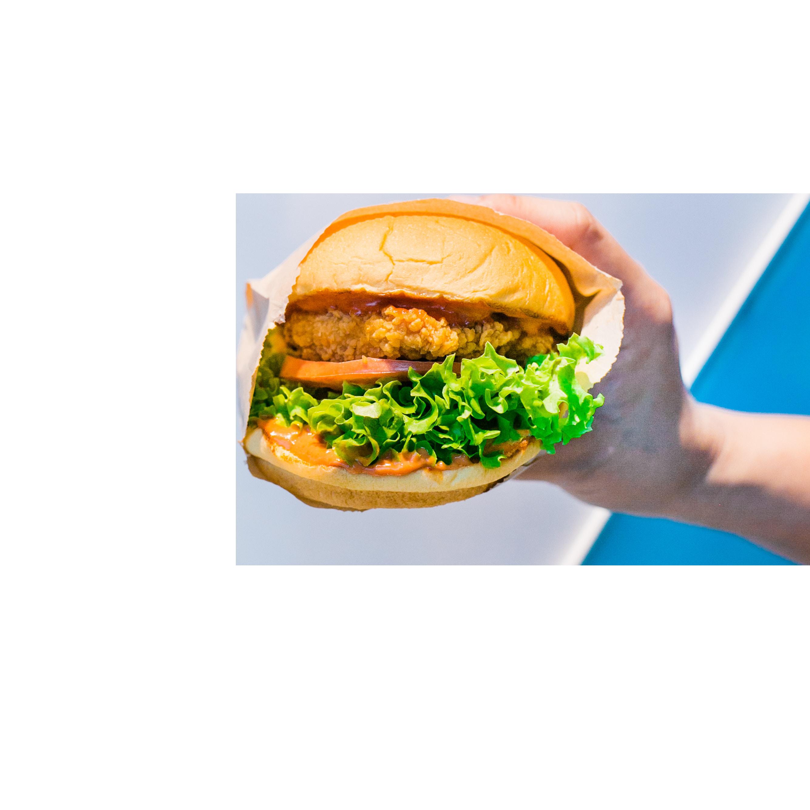 Burger in Hand Transparent Background PNG