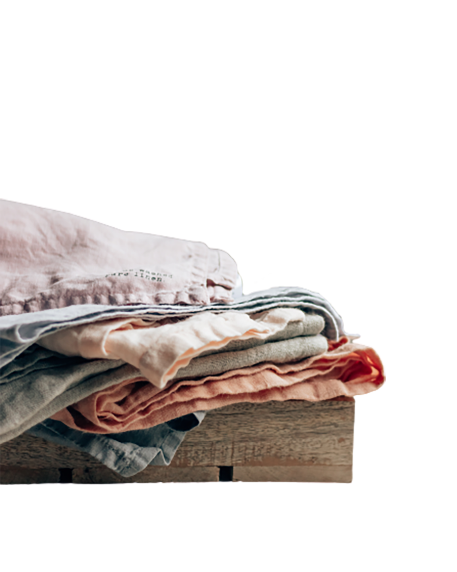 Clothes on a wooden surface transparent background PNG