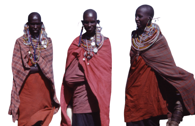African people in traditional dress transparent background PNG