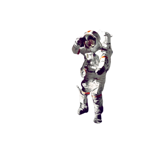Man on planets transparent background PNG