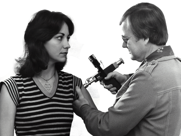 Doctor giving vaccine to a girl transparent background.png