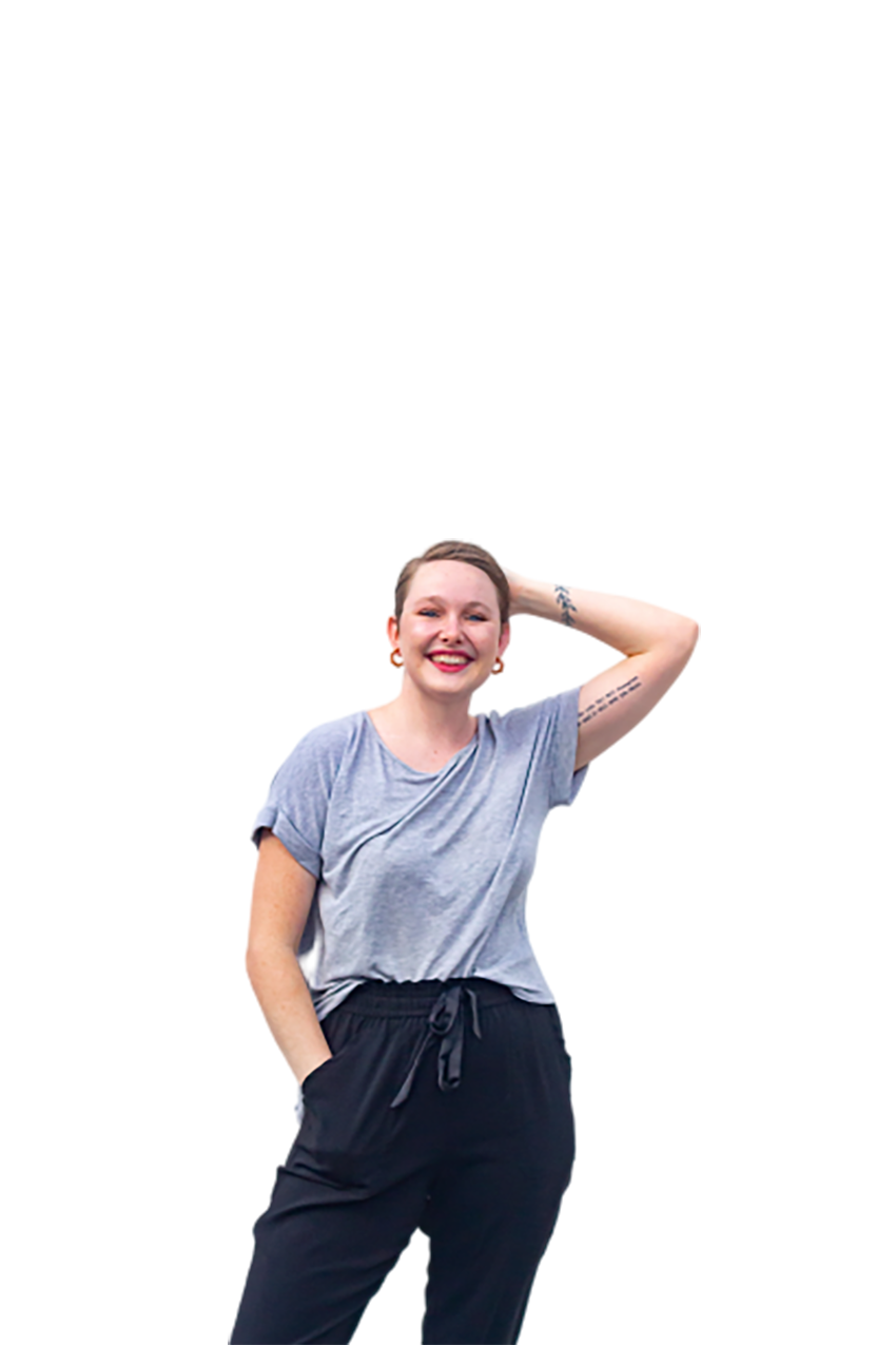 A white woman transparent background PNG
