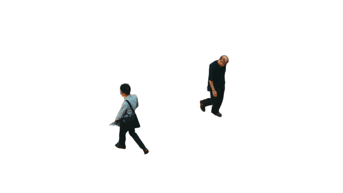 Walking with terrace view  Transparent Background PNG