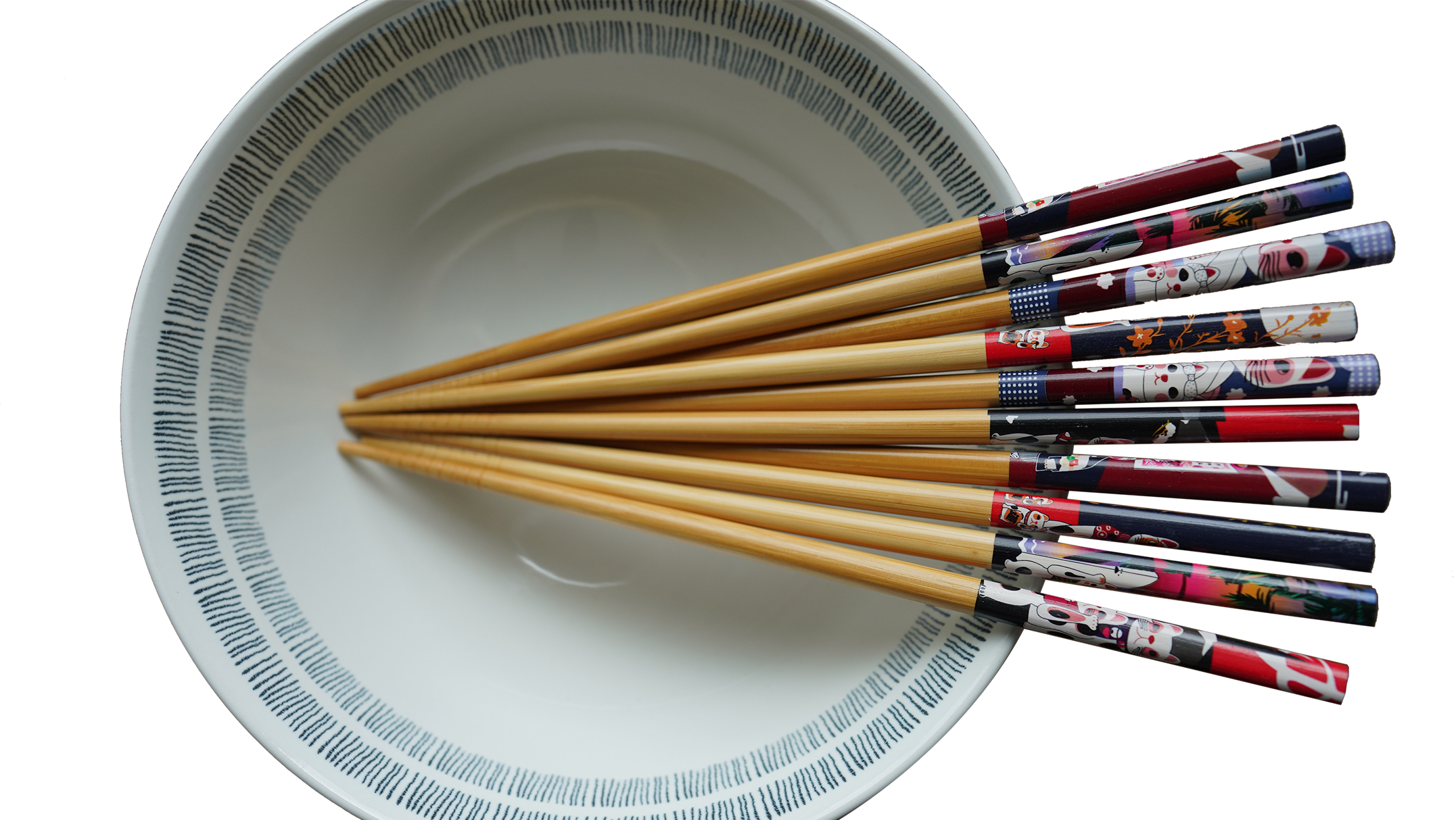 Chopsticks in a bowl transparent background PNG
