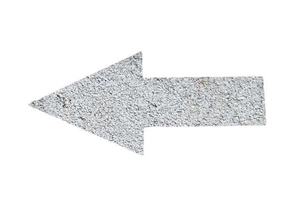 Ash-colored arrow showing direction transparent background PNG