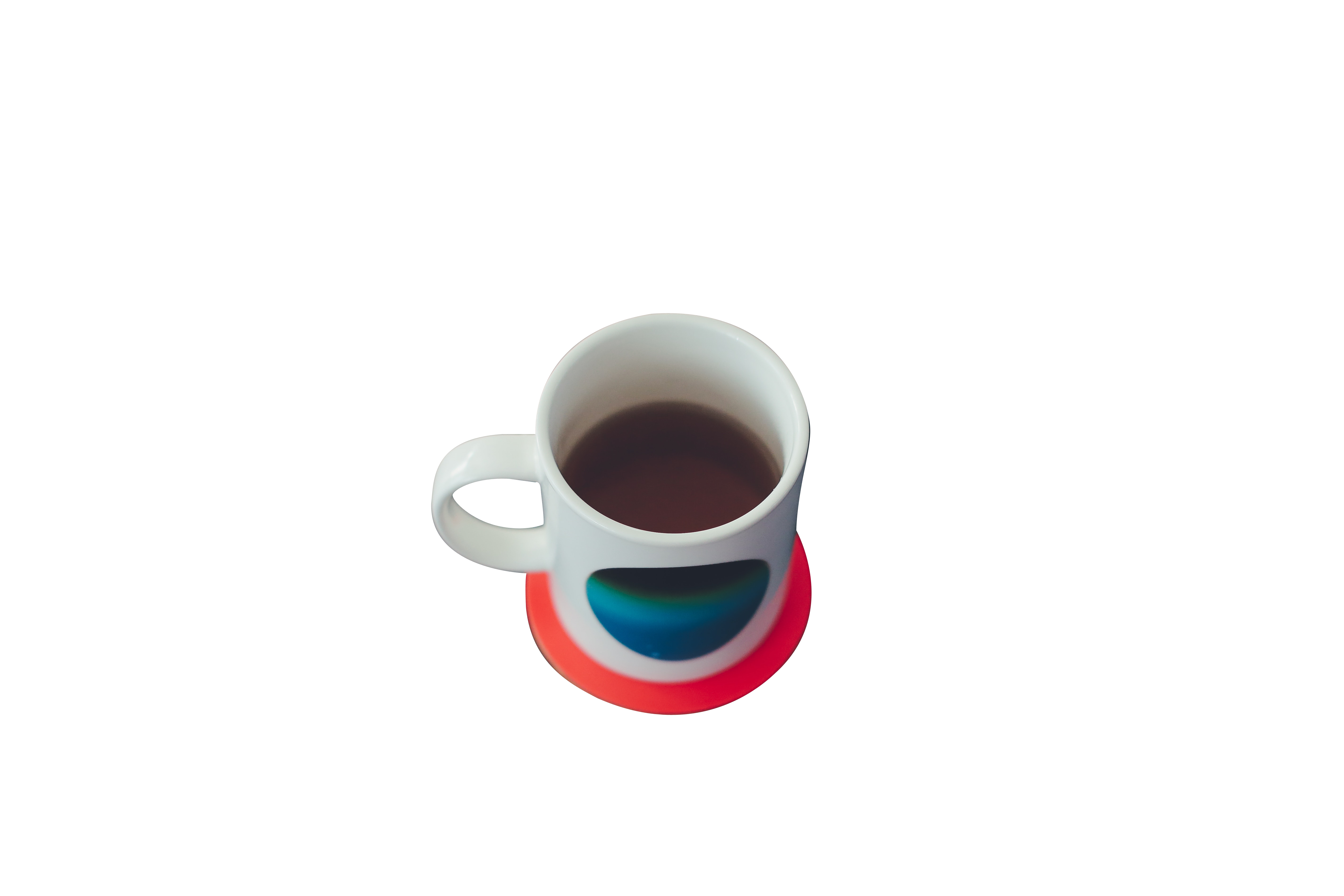 white and blue coffee mug Transparent Background PNG