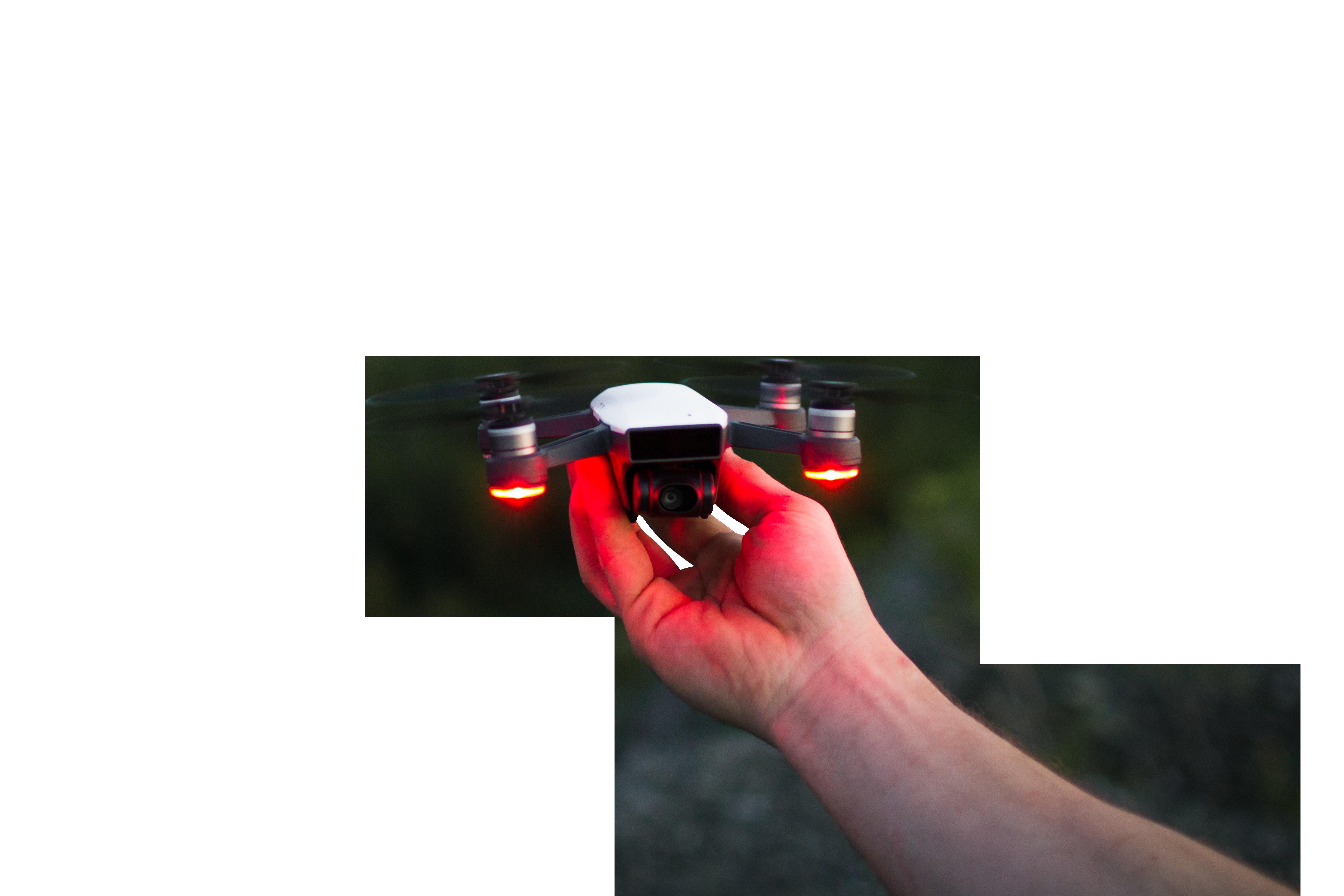 Man holding quad copter Transparent Background PNG