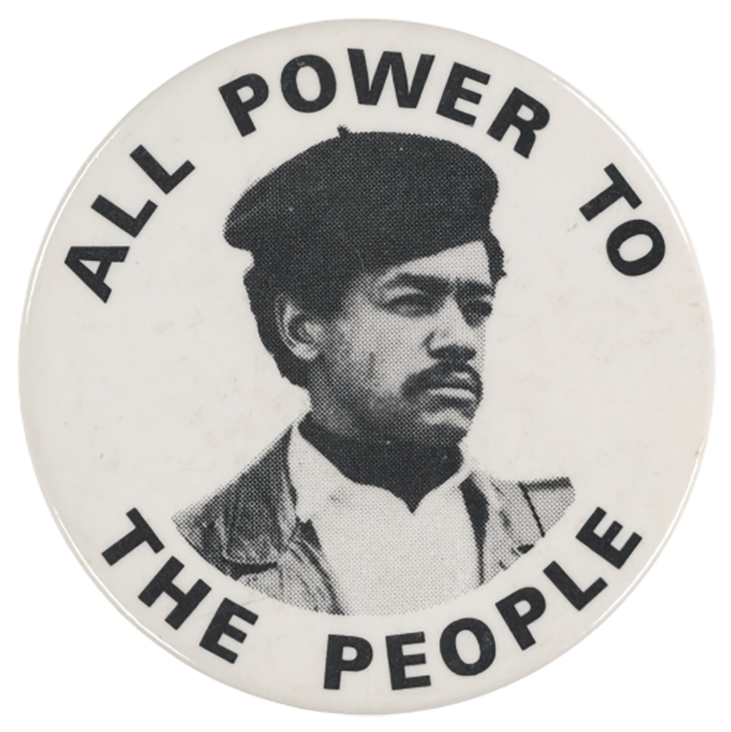 Slogan of Black panther Party transparent background PNG