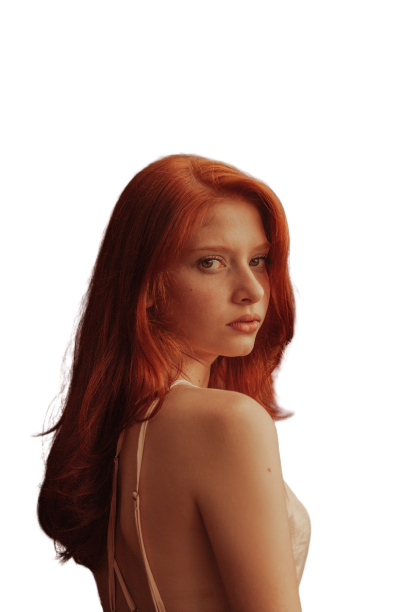 Red headed girl Red Transparent Background PNG