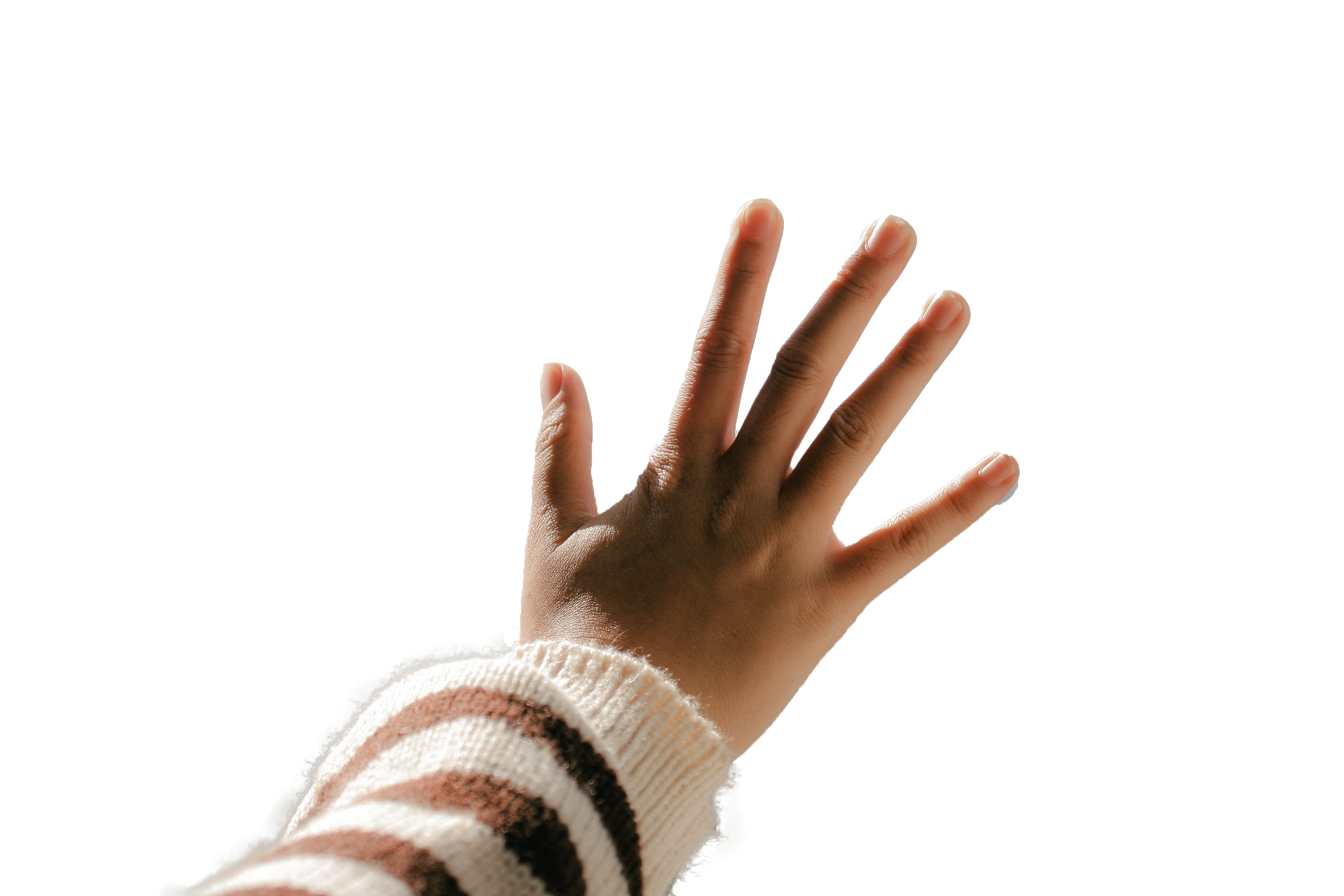 Showing Open Hand Closeup Transparent Background PNG