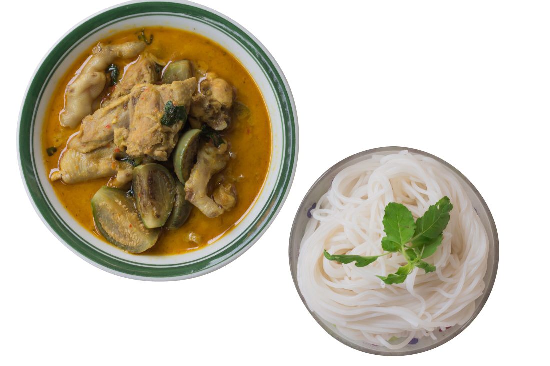 Curry Chicken With Noodles Transparent Background PNG
