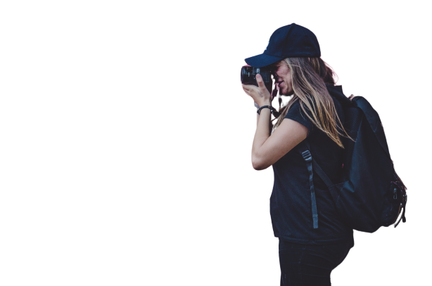 Female cameraman capturing Transparent Background PNG