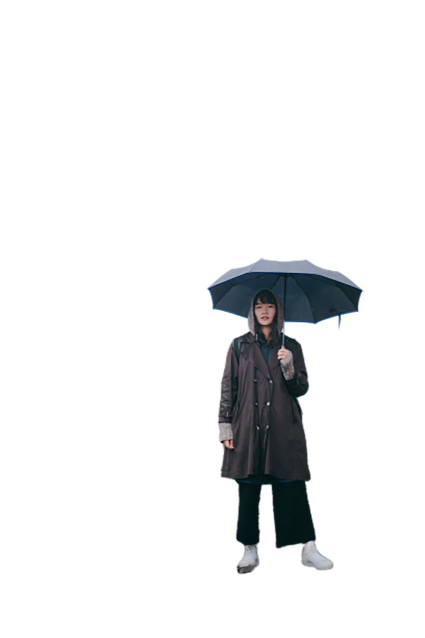Girl with a umbrella transparent background PNG
