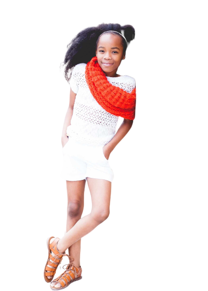 black girl with long hairs transparent background PNG