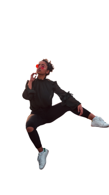 Boy with glasses transparent background PNG