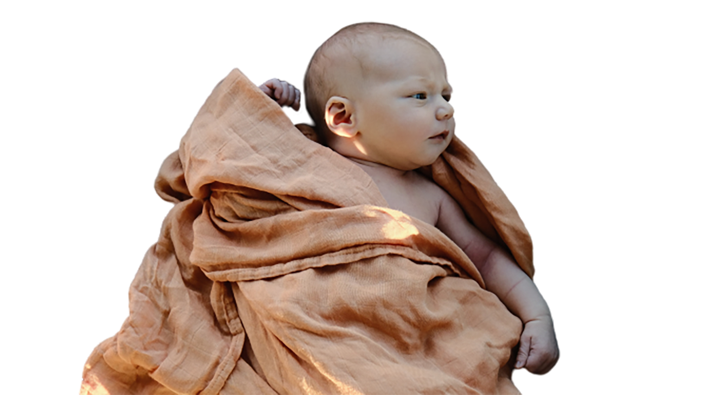 A newborn baby transparent background PNG