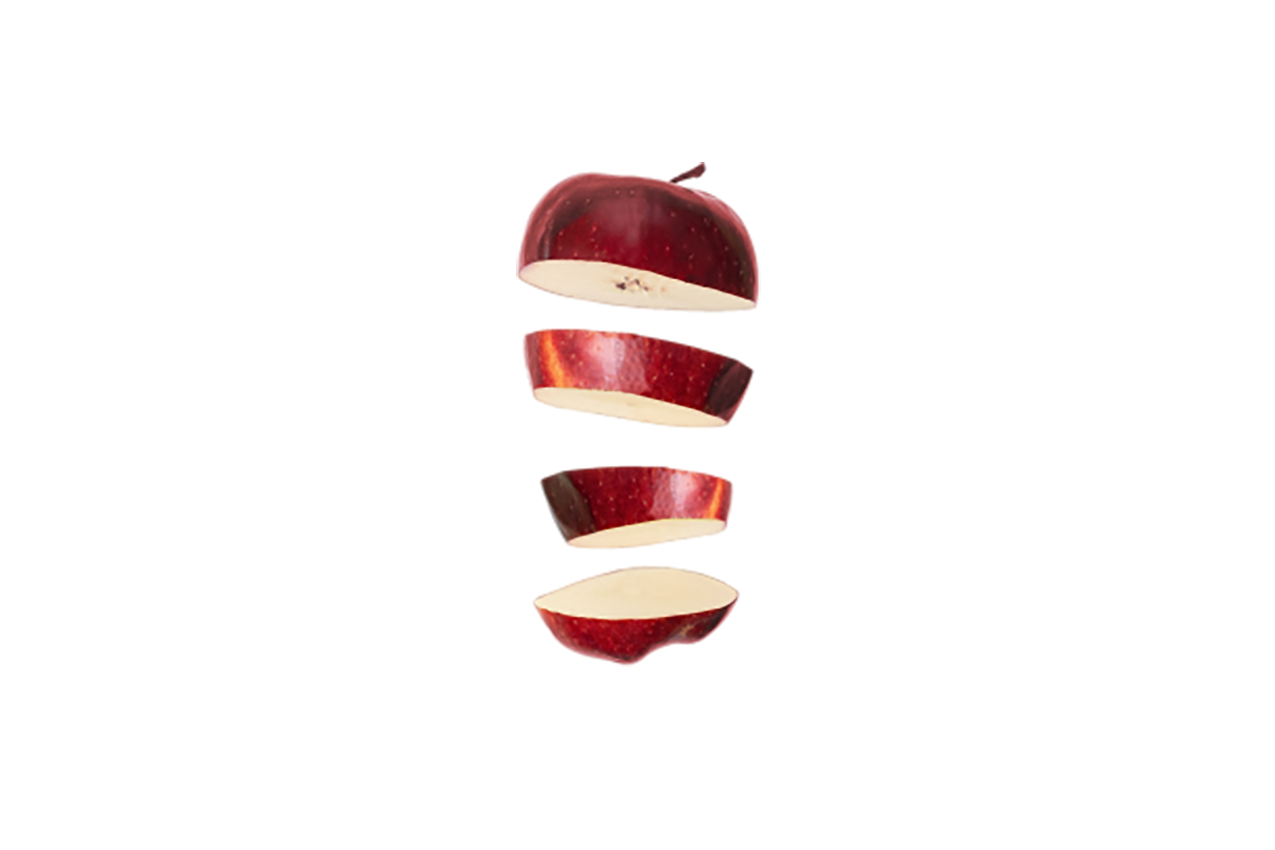 Pieces of apple transparent background PNG