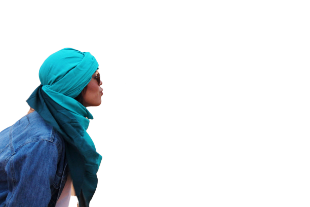 Lady kissing blue transparent background PNG