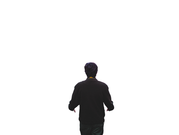 Boy  zoom out transparent background PNG