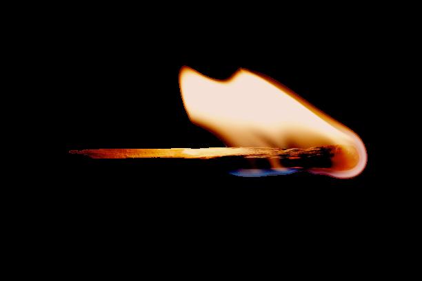 A burning match stick transparent background PNG