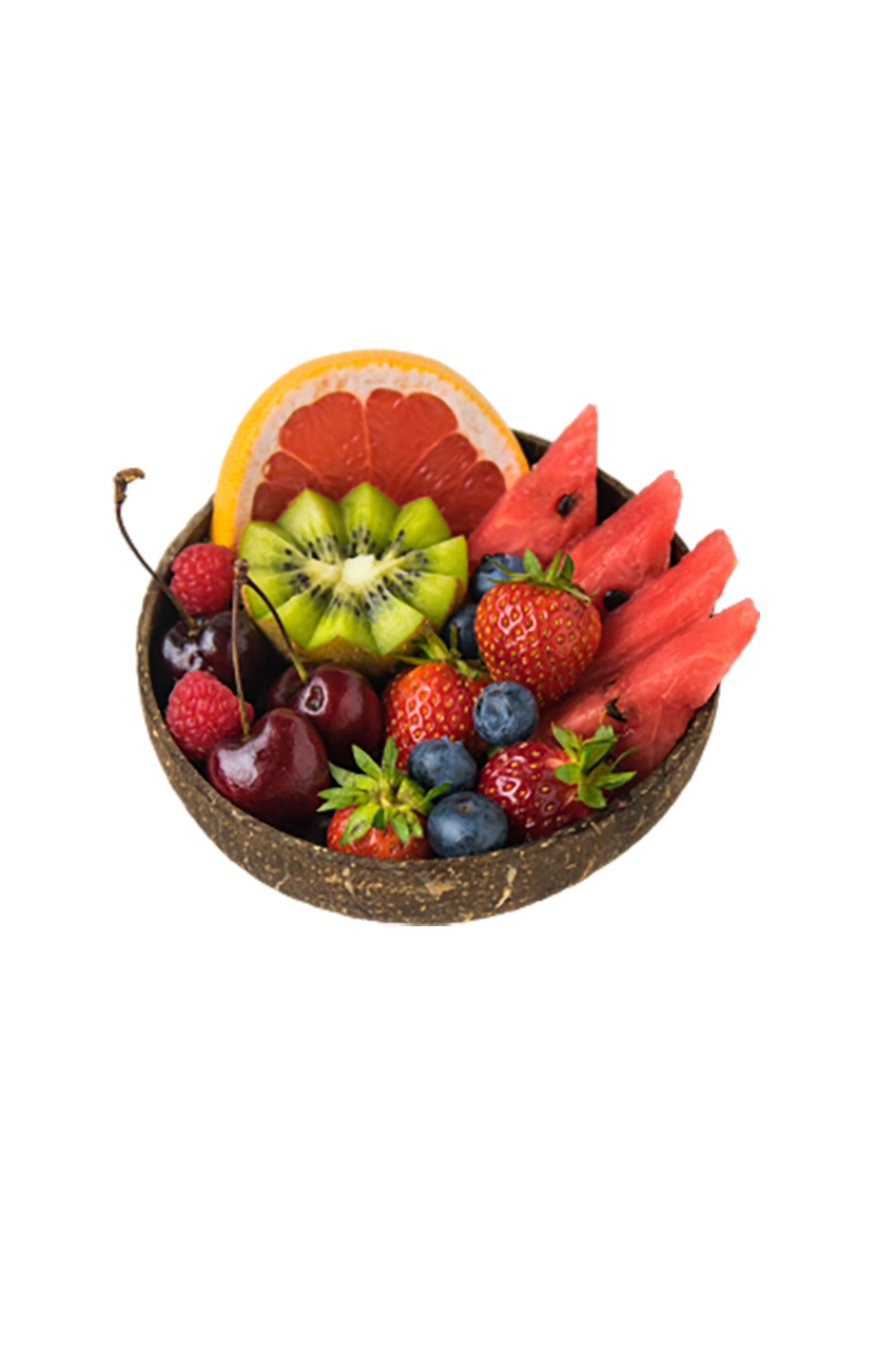 Fruits in a bowl transparent background PNG