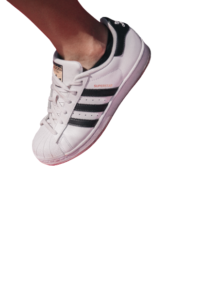 Boy wearing a white keds transparent background PNG