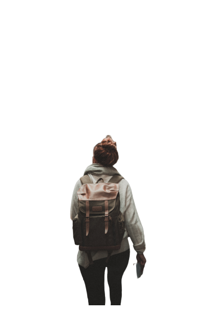 bag on the back transparent background PNG