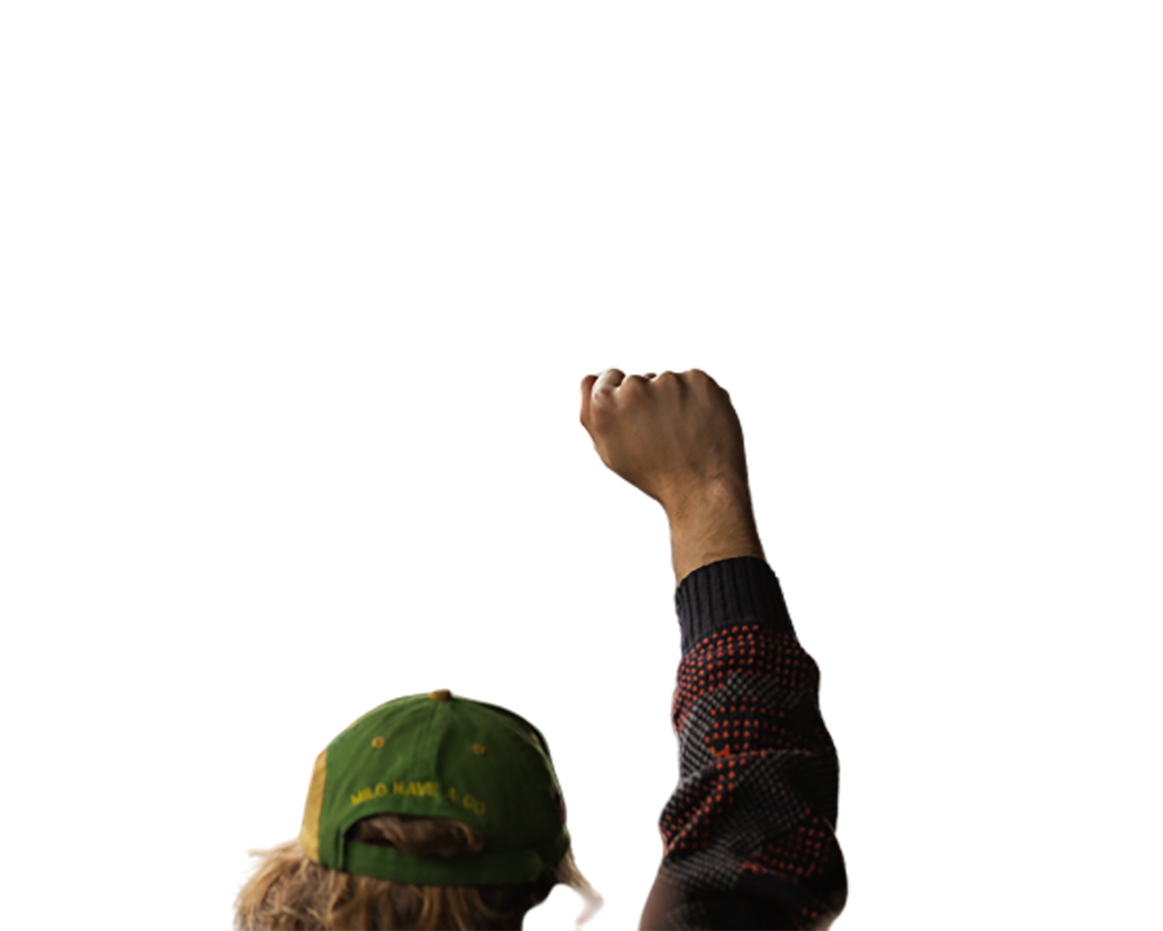 Man with a green cap is in a movement transparent background PNG