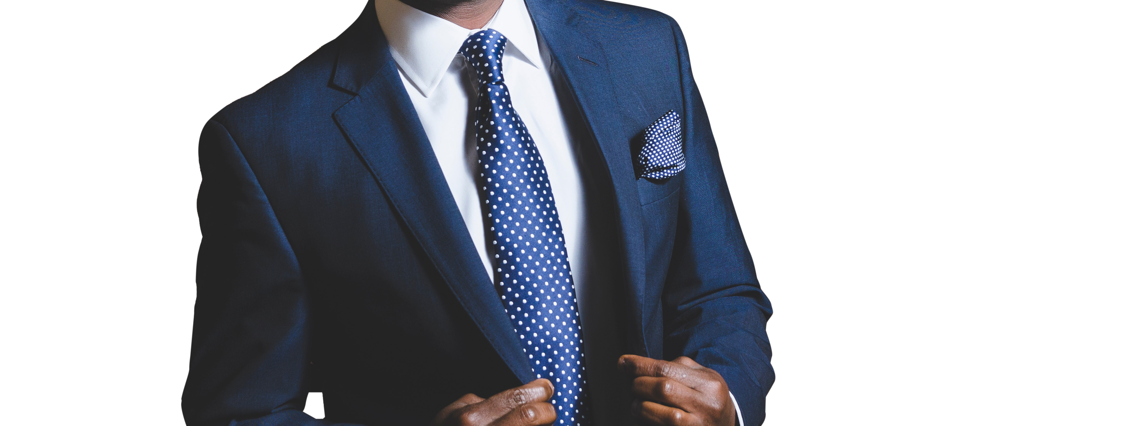 Man wearing Blue Color Suit With Transparent Background