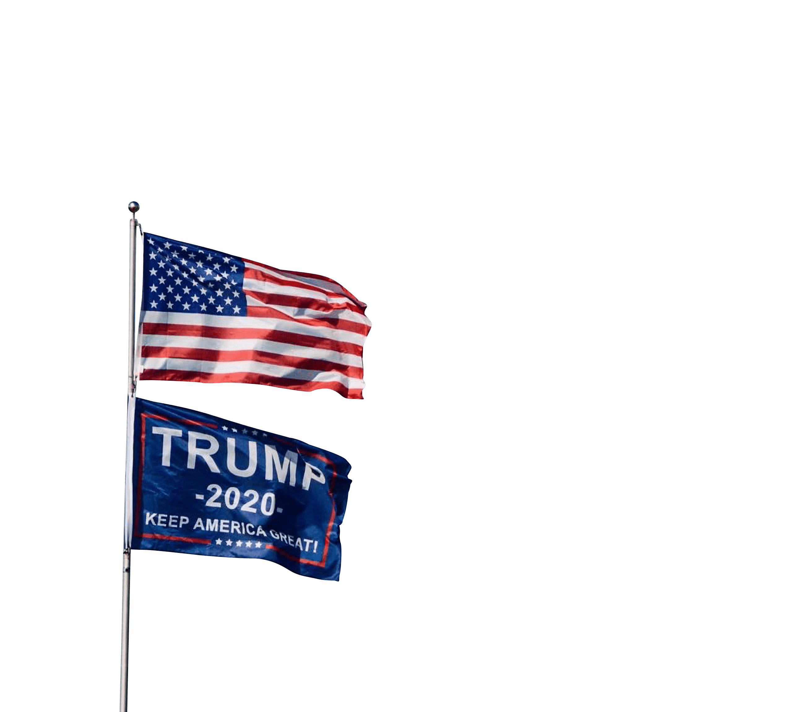 Usa flag and trump flag  transparent background.png