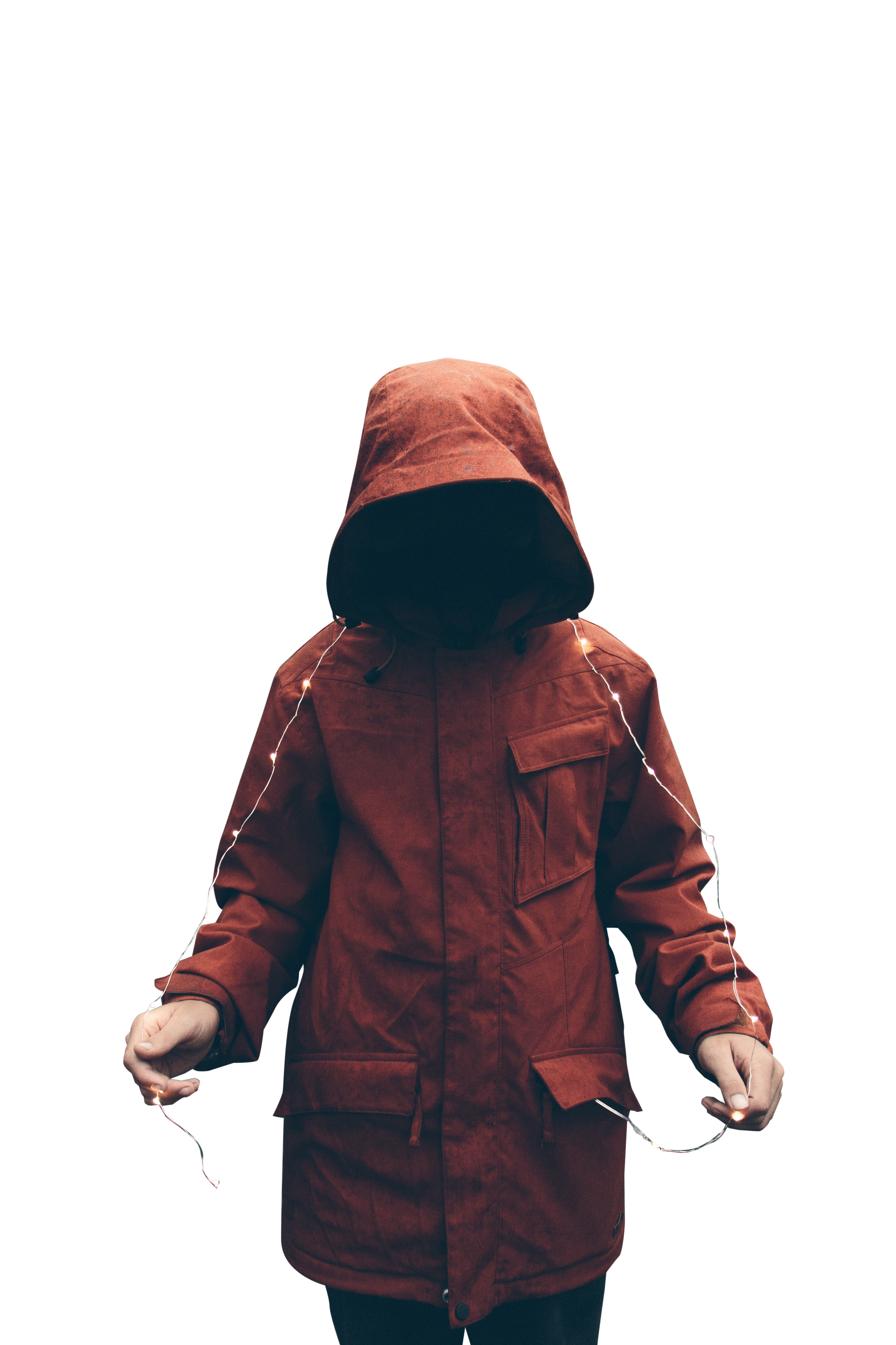 Black Hollow Man In Red Hood Transparent Background PNG