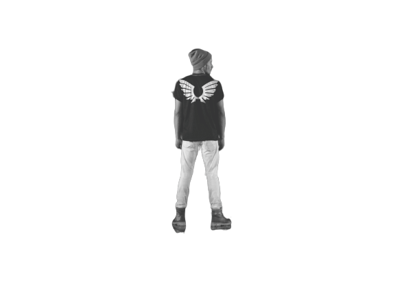 wings shirt on the back transparent background PNG