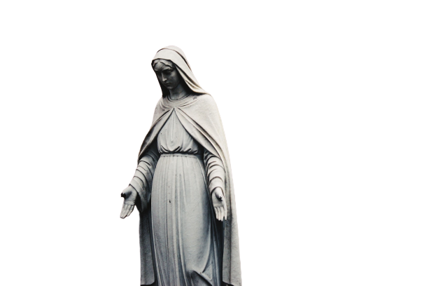 statue of mary  transparent background PNG