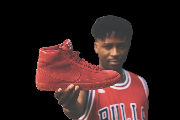 Black boy shoe in hand Transparent Background PNG
