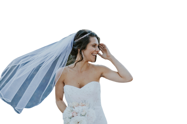 Bride with a smiling face Transparent Background PNG