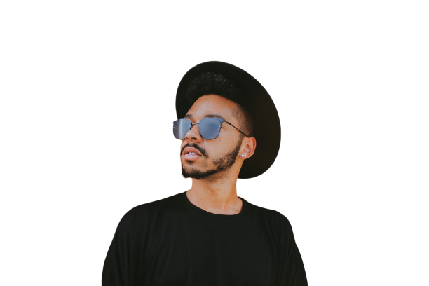 Beard Boy in sunglasses Transparent Background PNG