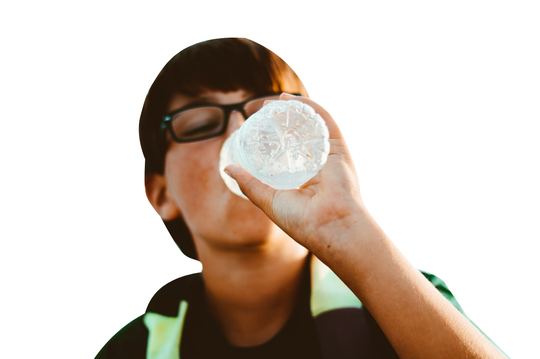 Man drinking water Transparent Background PNG