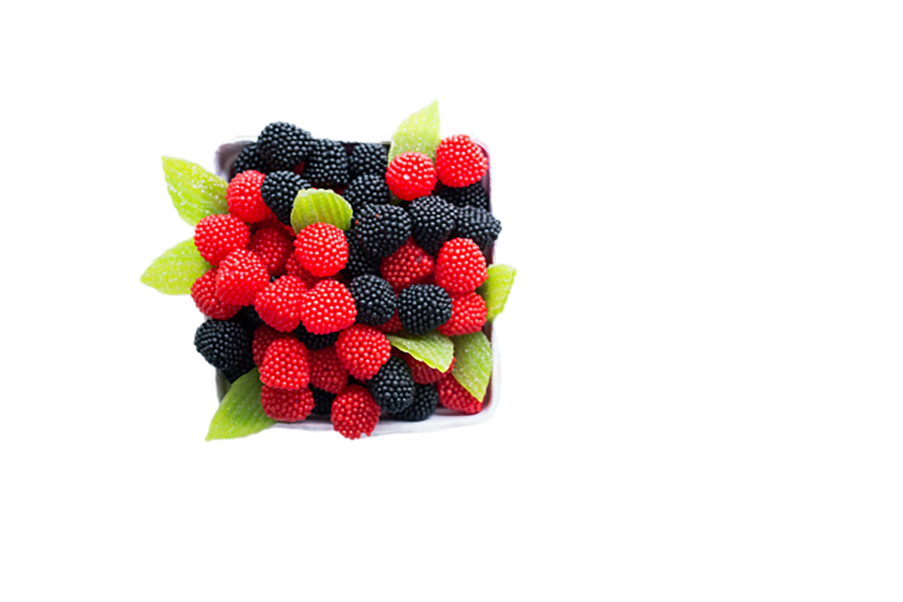 Black red fruits in a white bowl transparent background PNG