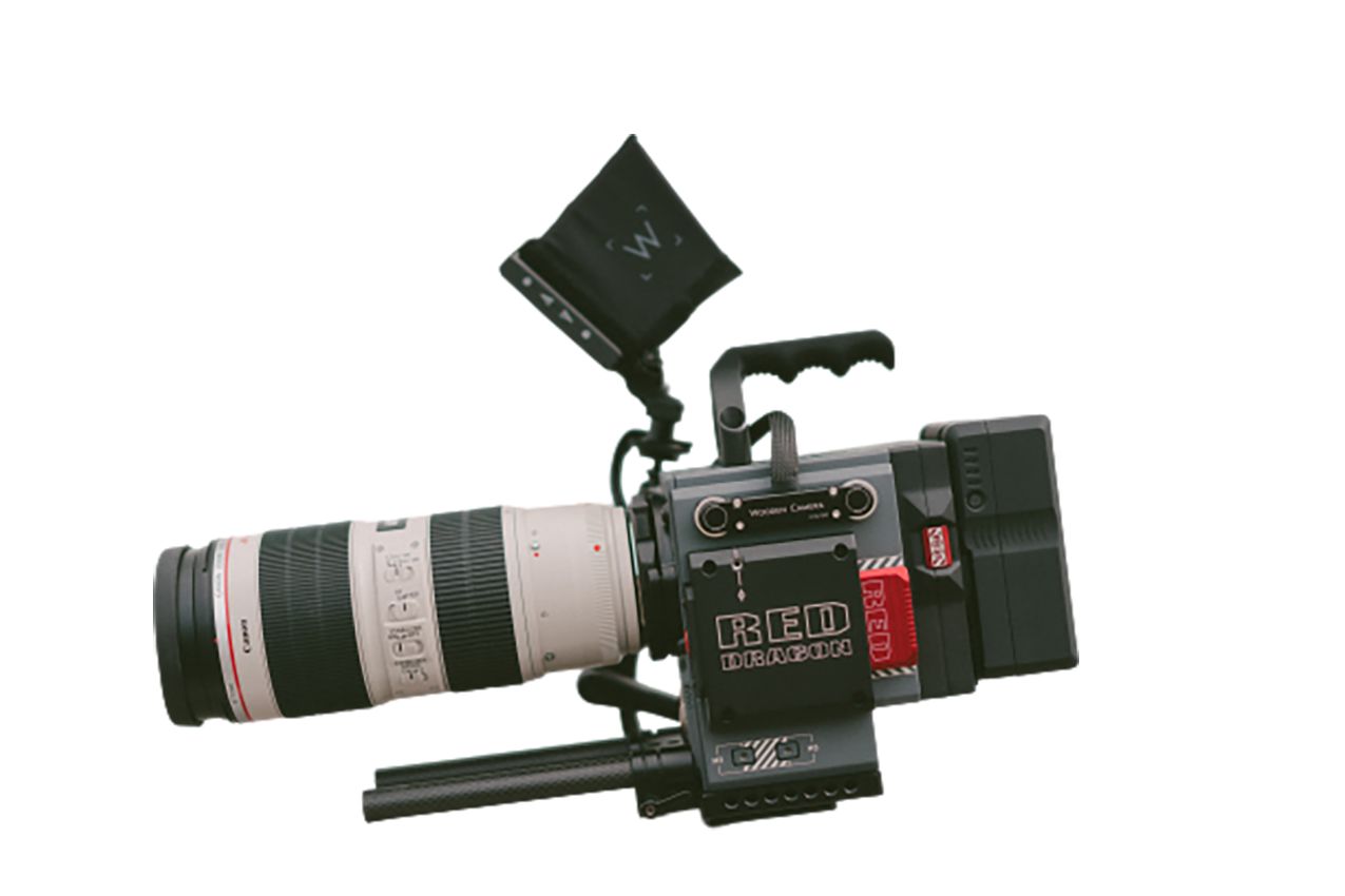 Red dragon Camera with lens transparent background PNG