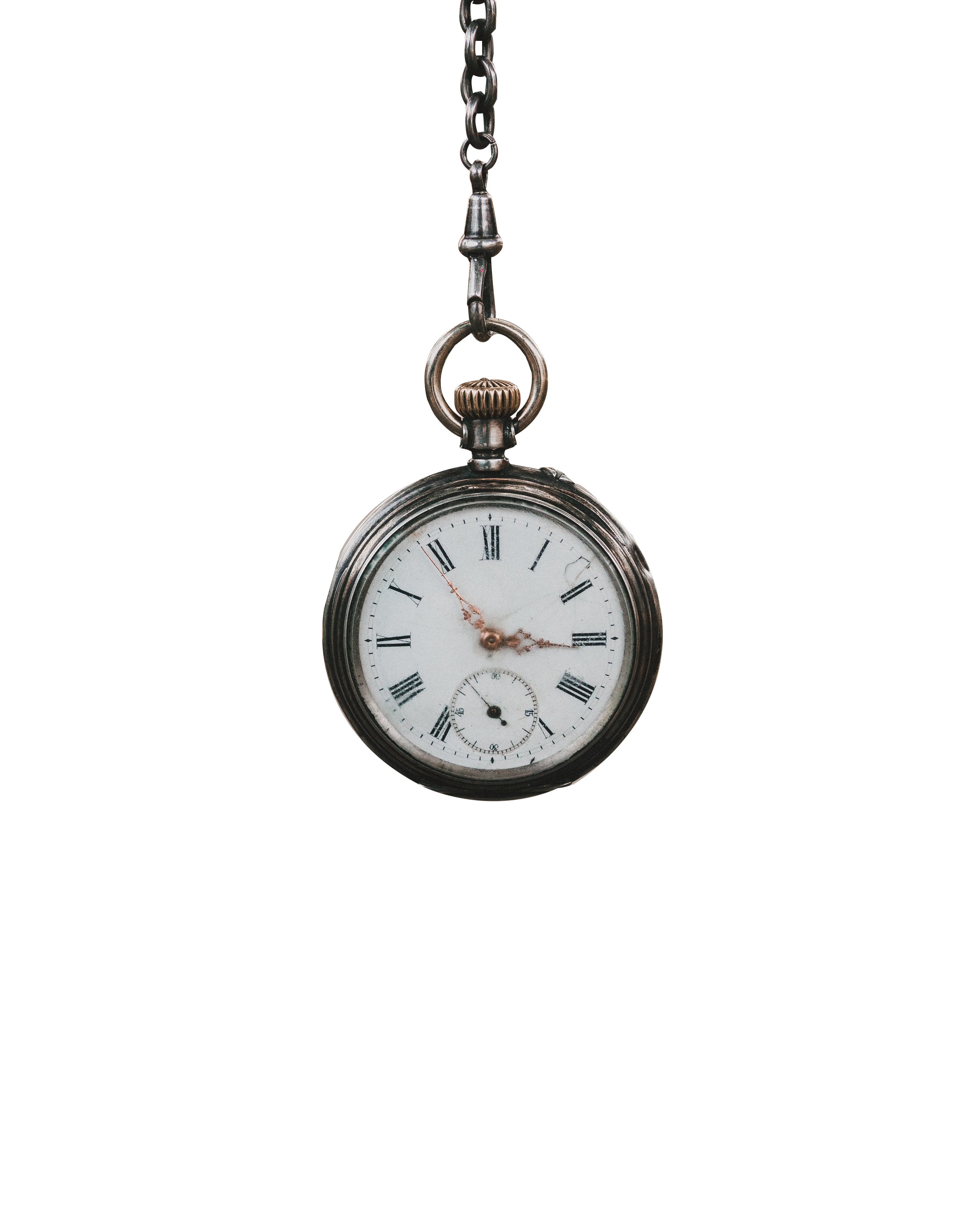 Round Little clock hanging with transparent background PNG