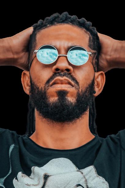 Man looking depressed transparent background PNG