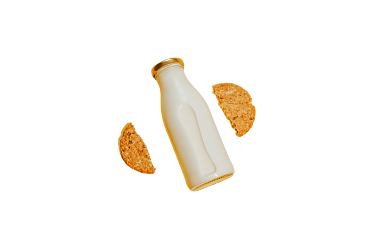 Milk and biscuits transparent background PNG