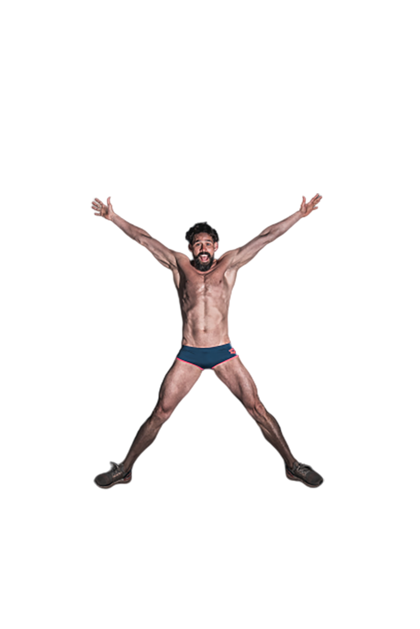 Man wearing an undergarment transparent background PNG