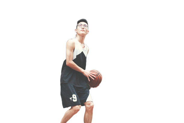 boy with basketball transparent background PNG