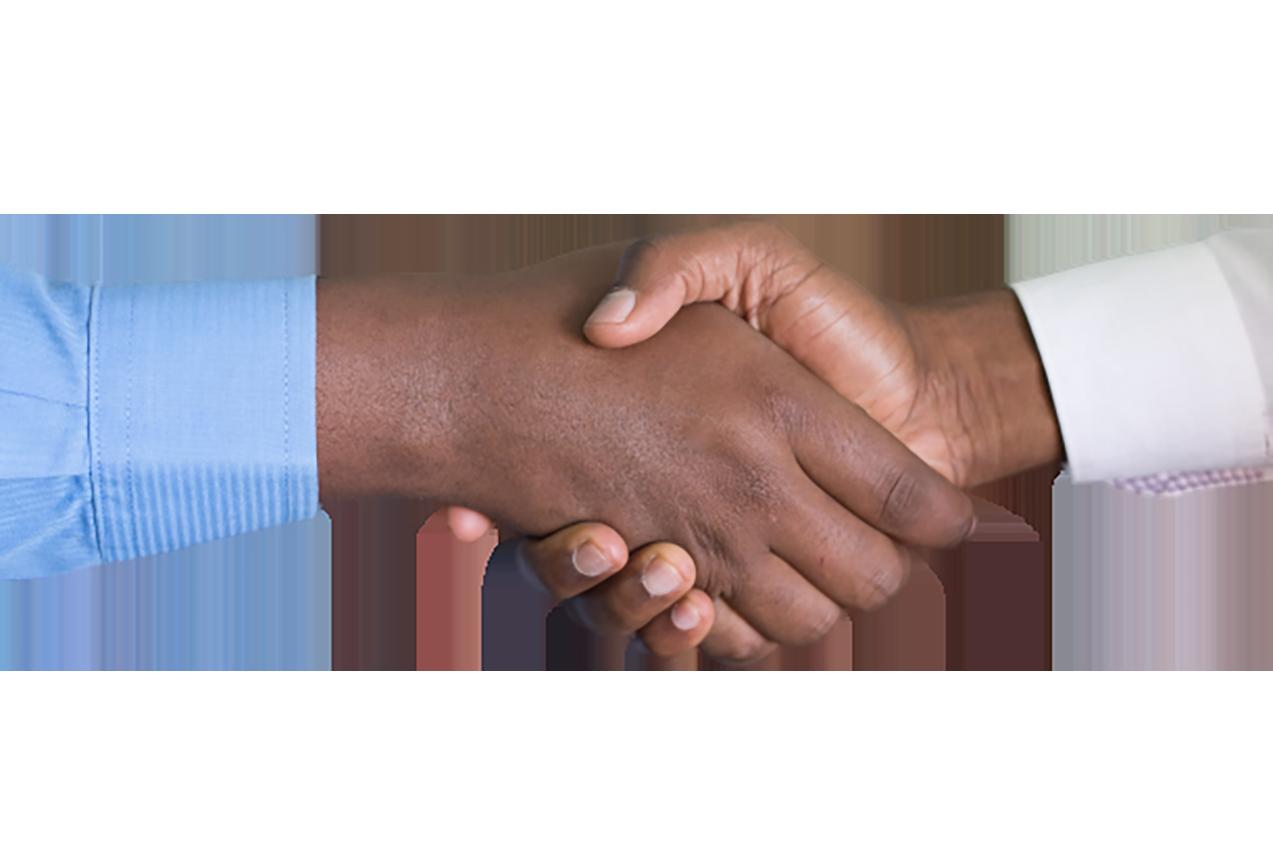 Men doing Handshake transparent background PNG