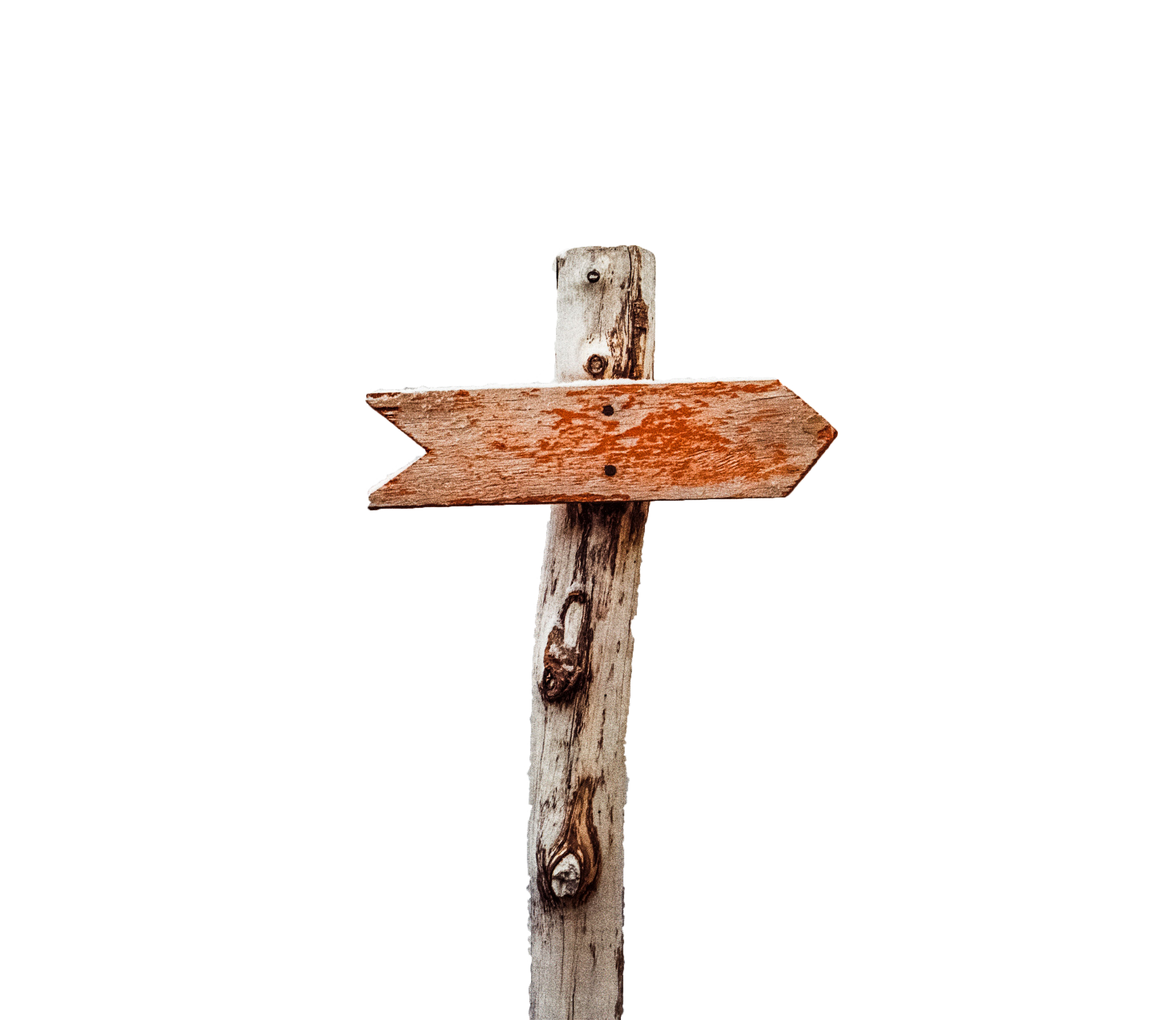 Wooden Arrow signals destination ahead with transparent background PNG