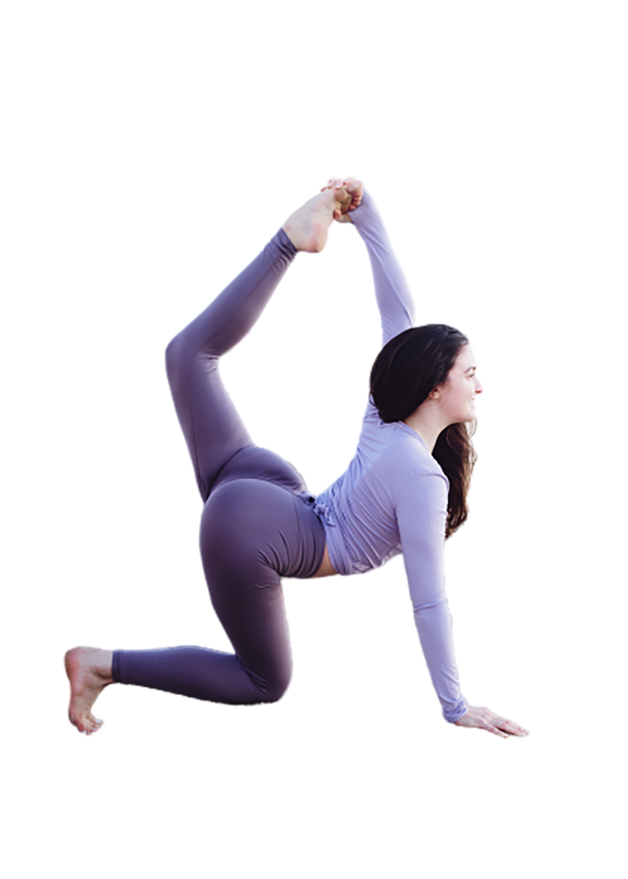A Girl doing yoga transparent background PNG